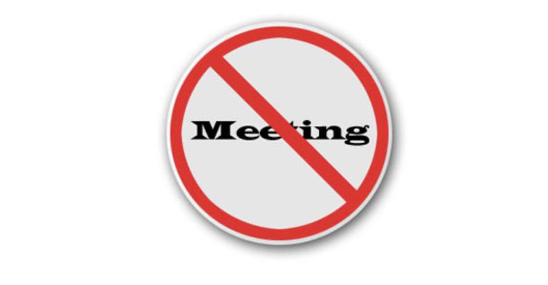 no meeting sign